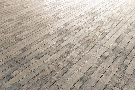 Sluit omhoog van bruine houten bevloering. Bespotten, 3D-weergave