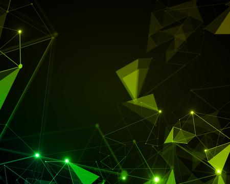 Creative green polygonal background. 3D Rendering
