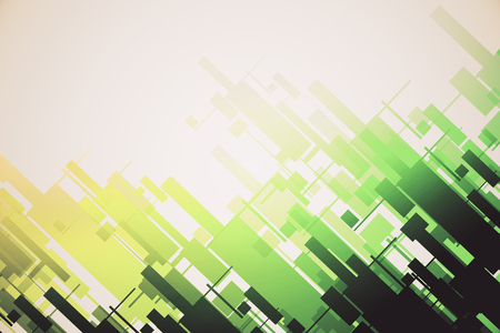 Abstract green pattern wallpaper Stock Photo