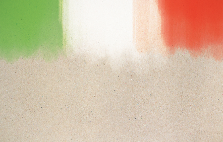 Creative paint-brush stokes. Italian flag. Patriotism concept Stock Photo