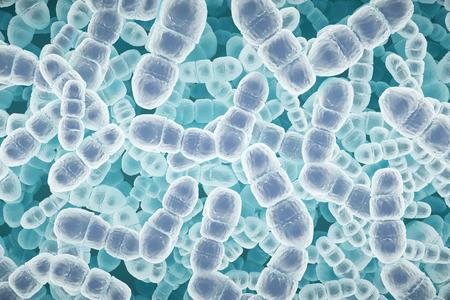 Macro virusbacteria texture. Medicine concept. 3D Rendering