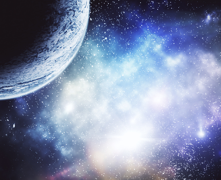 Creative moon in space wallpaper