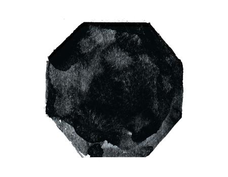 흰색 배경에 추상 검은 마름모. 예술 개념 스톡 콘텐츠