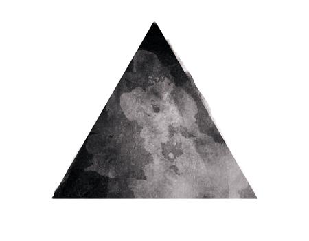 흰색 배경에 추상 검은 색 삼각형. 추상화 개념