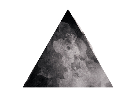 Abstract black triangle on white background. Abstraction concept