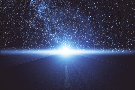 Abstract space road. Creativity concept Stock Photo - 80620963