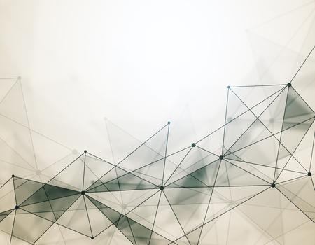 抽象的なデジタル多角形の壁紙。ネットワークの概念。3 D レンダリング