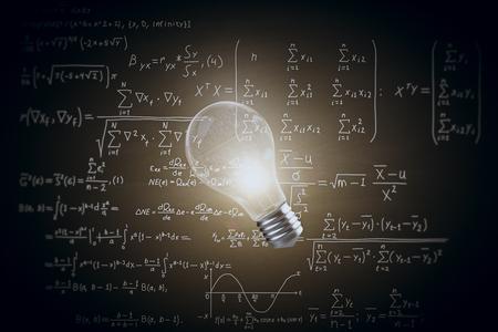 Lampada incandescente su sfondo scuro con concetto di microbiologia di biochimica . Rendering 3D Archivio Fotografico - 81368670