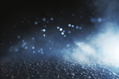 Abstract blurry bokeh close up asphalt background