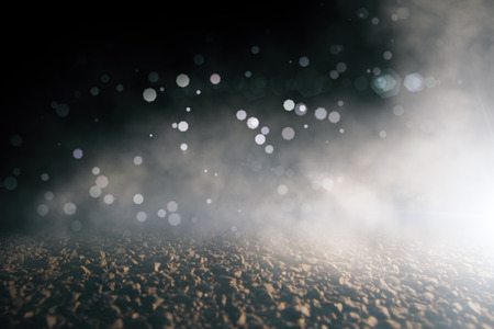 Abstract blurry bokeh close up asphalt backdrop