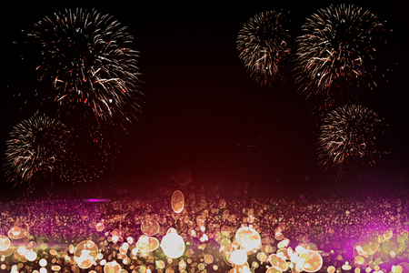 Bright pink and red firework background, backdrop, wallpaper. Festival, holiday, celebration concept