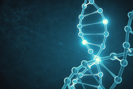 Glowing tech DNA texture. Medicine concept. 3D Rendering Stock Photo