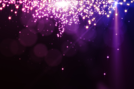 Abstract sparkling pink background with blurry bokeh dots and spotlight. Celebration, holiday, destive concept