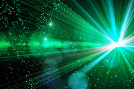 Glowing green space background/backdrop/wallpaper