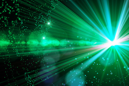 Glowing green space background/backdrop/wallpaper