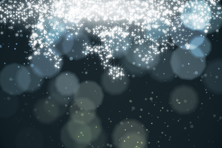 Abstract sparkling silver background with blurry bokeh dots and spotlight. Celebration, holiday, destive concept