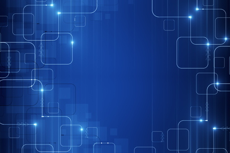 abstract blue tech pattern wallpaper with glowing circuit
