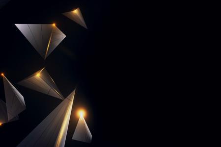 クリエイティブな低ポリゴン技術テクスチャ。3D レンダリング