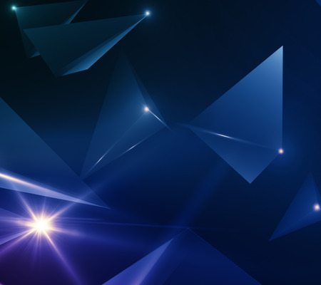 Abstract polygonal hi- tech texture. 3D Rendering