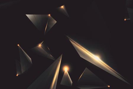 創造的な低ポリ ポリゴン技術の背景。3 D レンダリング