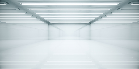 Empty clean white box room interior. Copy space. 3D Rendering Stock fotó - 88682020