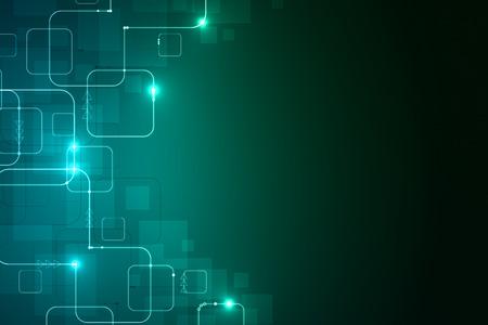 抽象デジタル緑の背景。技術コンセプト。3 D レンダリング 写真素材