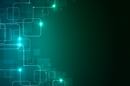 Abstract digital green backdrop. Technology concept. 3D Rendering