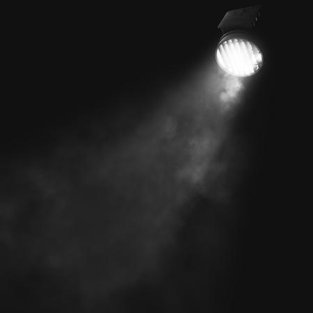 연기와 복사본 공간 추상 grunge 벽에 빛나는 스포트 라이트. 장식 개념입니다. 3D Rendeirng