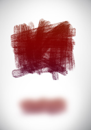 Abstract rectangular doodle with shadow on white background Imagens