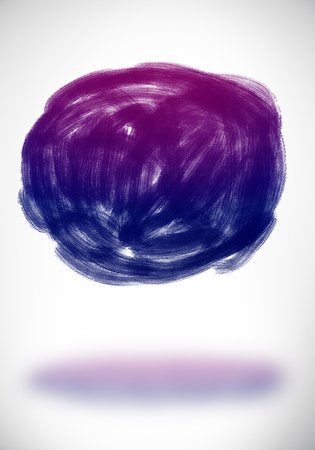 Abstract round sketch with shadow on white background