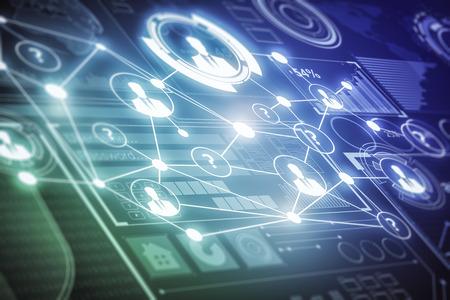 빛나는 디지털 비즈니스 화면 질감. 기술 및 혁신 개념입니다. 3D 렌더링 스톡 콘텐츠
