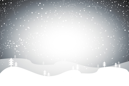Creative snow landscape cartoon backdrop. Christmas concept  Banco de Imagens
