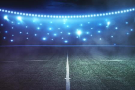 Abstract football field at night. Creative backdrop