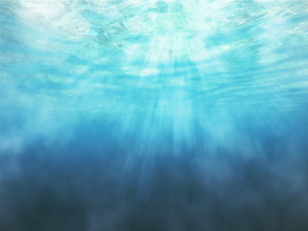 Abstract underwater background with ripple and daylight. Nature concept. Copy space 版權商用圖片 - 93285887