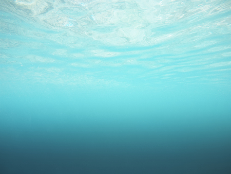 Abstract underwater background with ripple and daylight. Nature concept. Copy space
