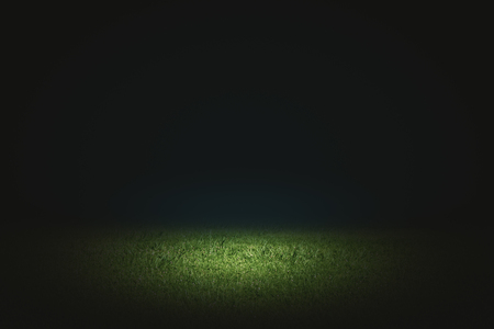 Creative black football field background. Copy space