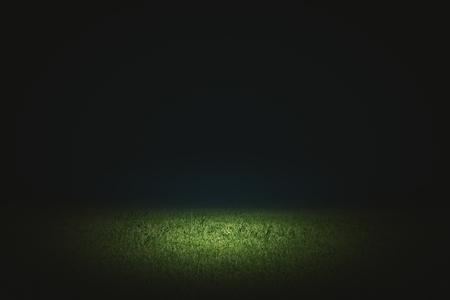 Creative black football field background. Copy space