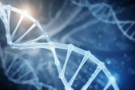 Abstract DNA backdrop. Science and innovation concept. 3D Rendering  Stock Photo