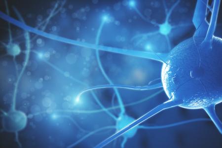 Abstract molecule background. Science and medicine concept. 3D Rendering  Banco de Imagens