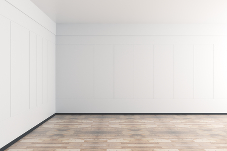 Modern interior with empty wall and copy space. 3D Rendering  Stock Photo