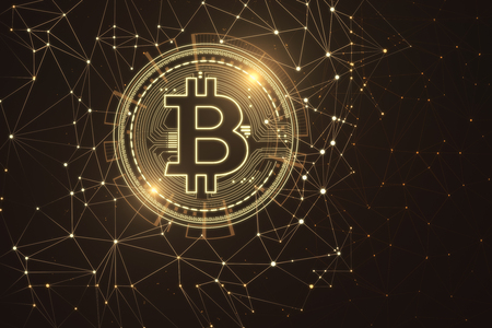 Glowing Polygonal Bitcoin Wallpaper Cryptocurrency And Finance Stock Photo Picture And Royalty Free Image Image 95477851