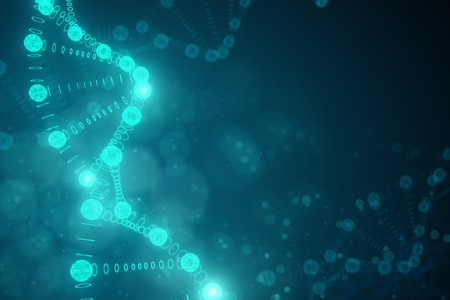Creative blurry DNA backdrop. Medicine and science concept. 3D Rendering