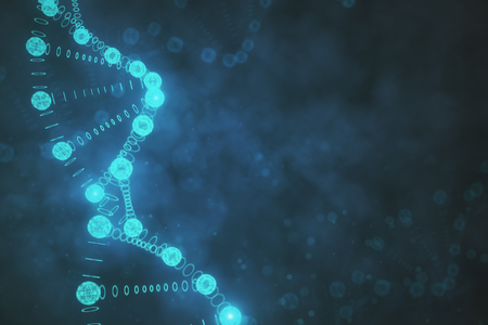 Creative blurry DNA background. Medicine and science concept. 3D Rendering  Stock Photo