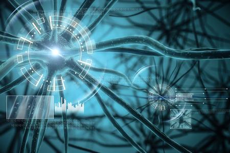 Hintergrund der digitalen medizinischen Schnittstelle. 3D-Rendering Standard-Bild