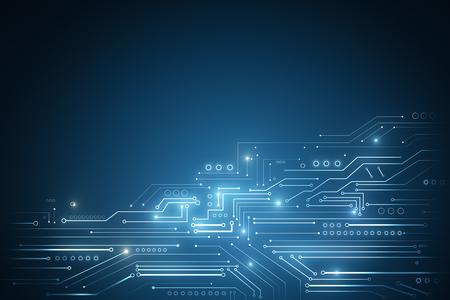 추상 빛나는 기술 배경. 사이버 공간 및 혁신 개념. 3D 렌더링