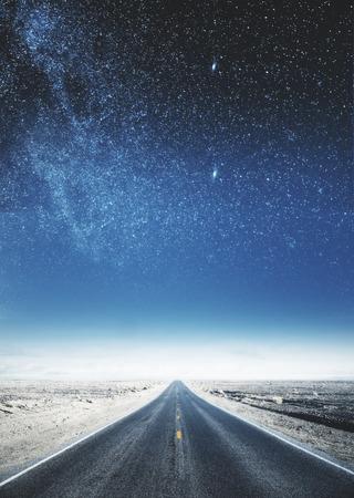 Creative sky road backdrop. Art and wallpaper concept Reklamní fotografie - 101781574