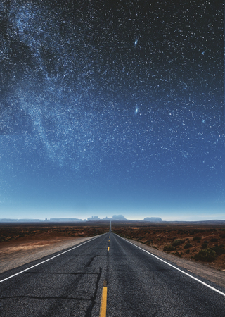 Creative sky road wallpaper. Art and backdrop concept