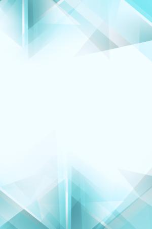 Licht wit en blauw veelhoekig behang met kopie ruimte. 3D-weergave