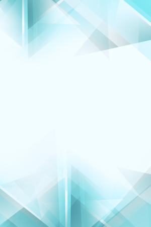 Light white and blue polygonal wallpaper with copy space. 3D Rendering  写真素材