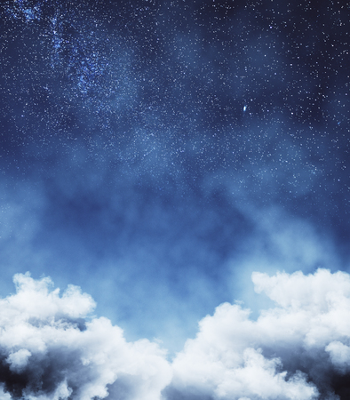 Creative cloud sky backdrop. Dreams and nature concept